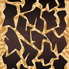 abstract letter forms - giraffe pattern by samserif