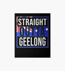 Straight Outta Geelong Retro Style - Gift For An Australian From Geelong in Victoria , Design Has The Australia Flag Embedded Art Board