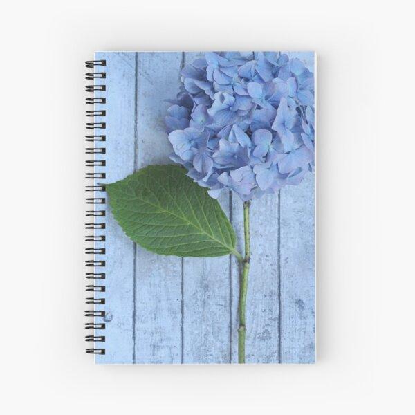 Powder Blue Hydrangea Spiral Notebook
