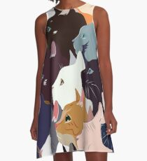 variety of cats A-Line Dress