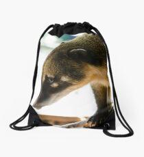Curious Coati Drawstring Bag
