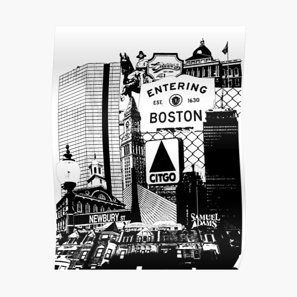 Boston scenes and sights collage Poster