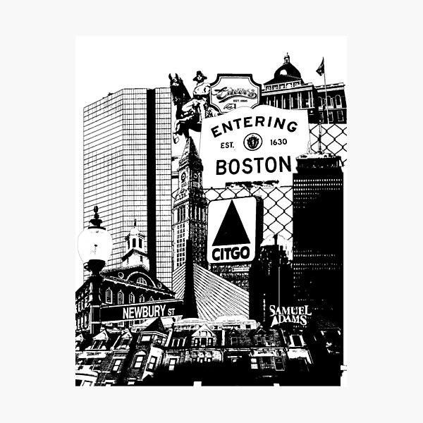 Boston scenes and sights collage Photographic Print