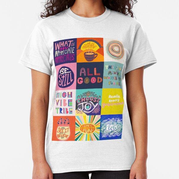 Positivity Patchwork Classic T-Shirt