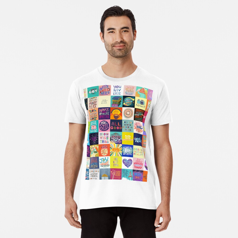 Positivität Patchwork Premium T-Shirt