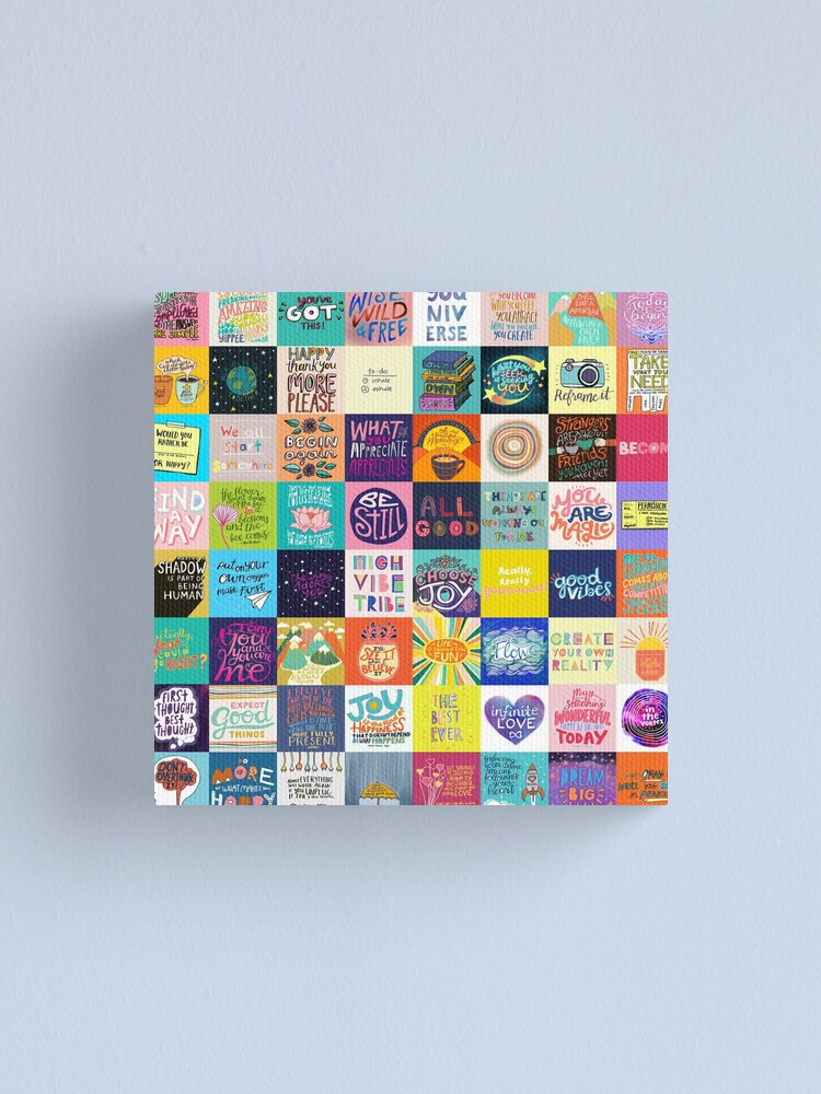Alternate view of Positivity Patchwork Canvas Print