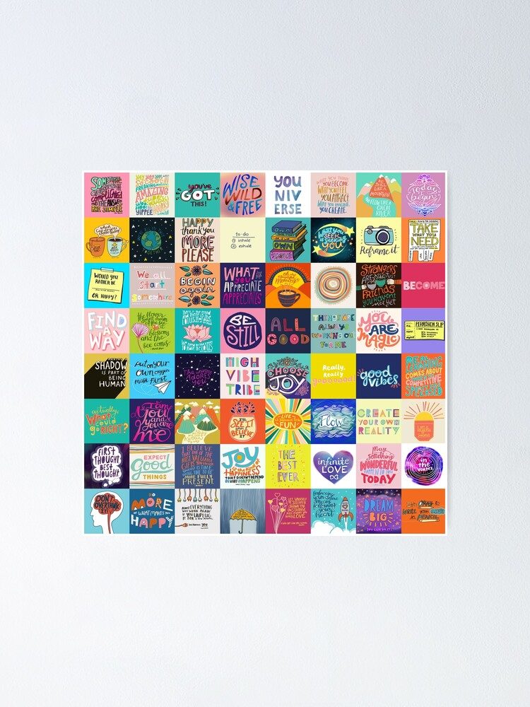 Alternate view of Positivity Patchwork Poster