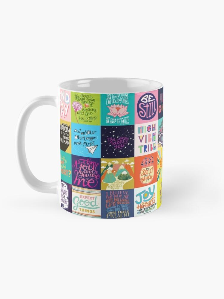 Alternate view of Positivity Patchwork Mug