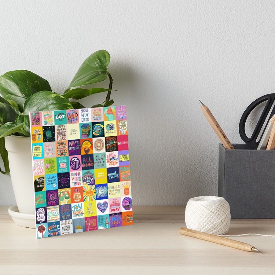 Positivity Patchwork Art Board Print