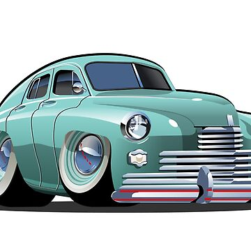 Cartoon retro car by Mechanick