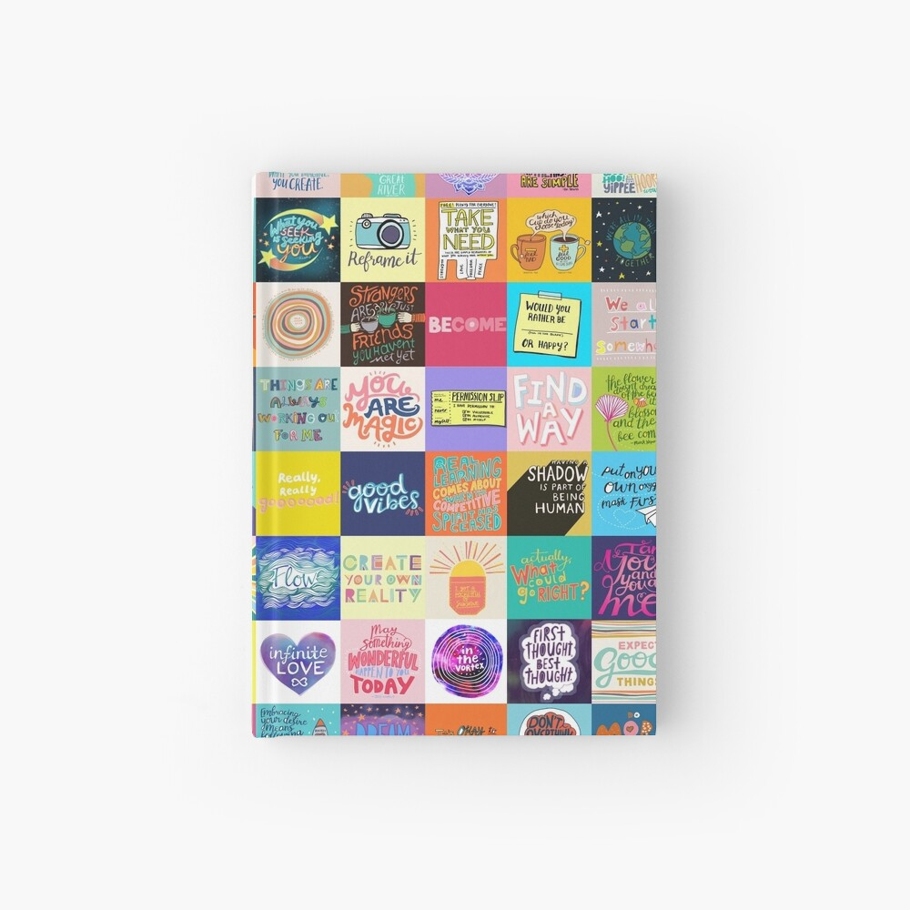 Positivity Patchwork Hardcover Journal