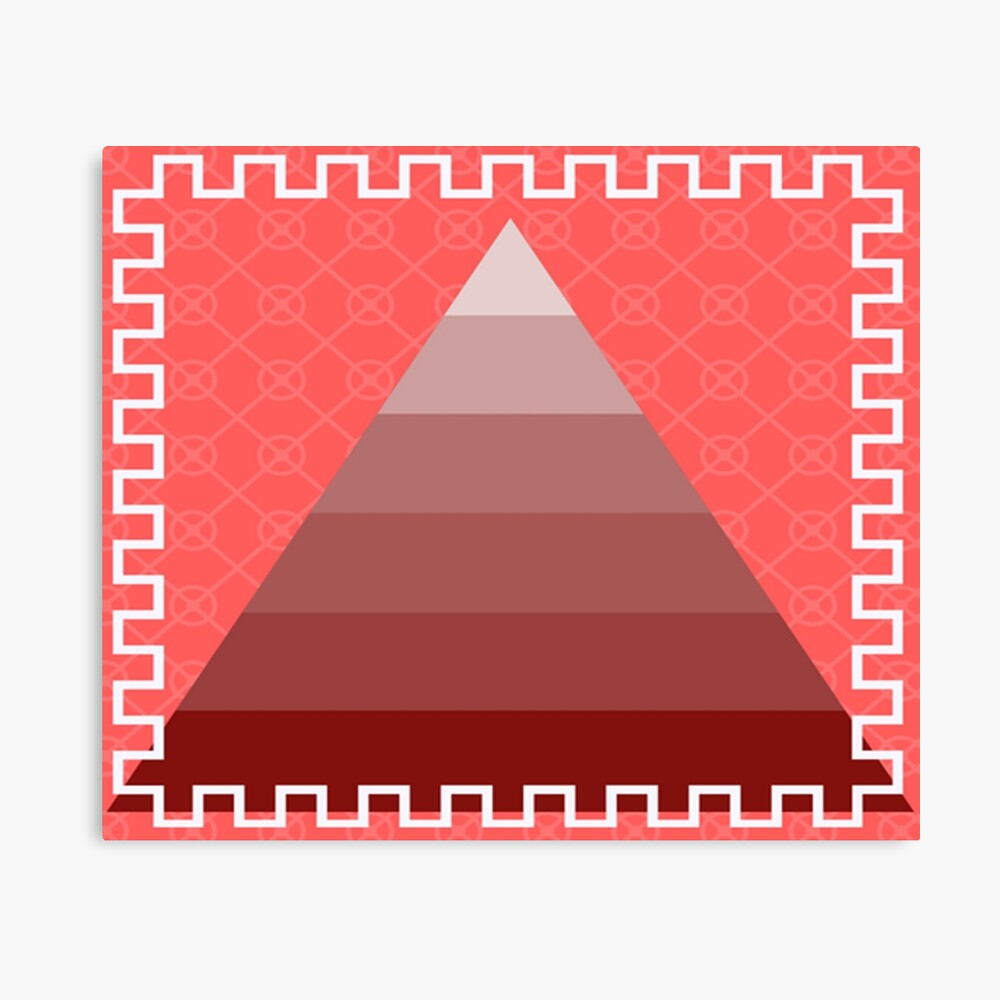 Red pyramid Canvas Print - Pyramid Wall Decor - Bold Pyramid Wall art