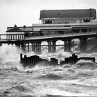 Blackpool, Rough Seas. by John Dalkin
