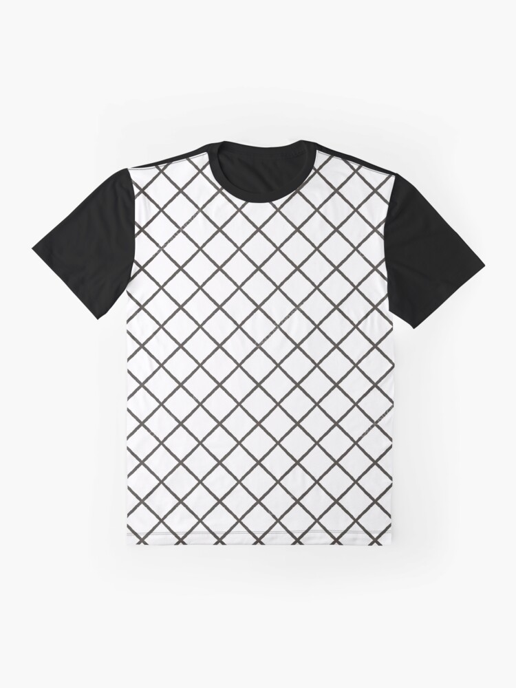 Alternate view of Mesh, #Mesh, illustration, abstract, diagonal, striped, grid, #illustration, #abstract, #diagonal, #striped, #grid Graphic T-Shirt
