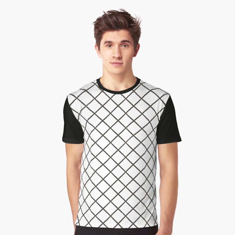 Mesh, #Mesh, illustration, abstract, diagonal, striped, grid, #illustration, #abstract, #diagonal, #striped, #grid Graphic T-Shirt