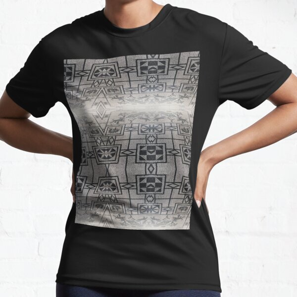Roman Mosaic Floor in Pompeii Italy Active T-Shirt