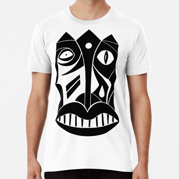 Maske Totem König Premium T-Shirt