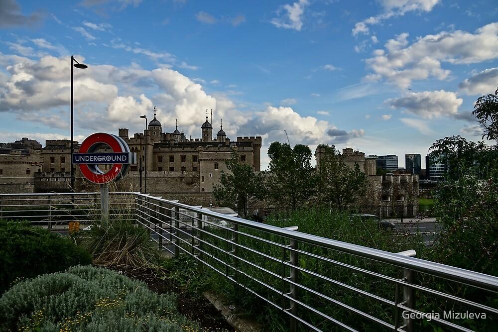 London Underground and the Tower of London by Georgia Mizuleva