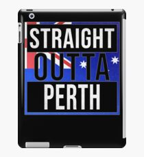 Straight Outta Perth Retro Style - Gift For An Australian From Perth in Western Australia , Design Has The Australia Flag Embedded iPad Case/Skin