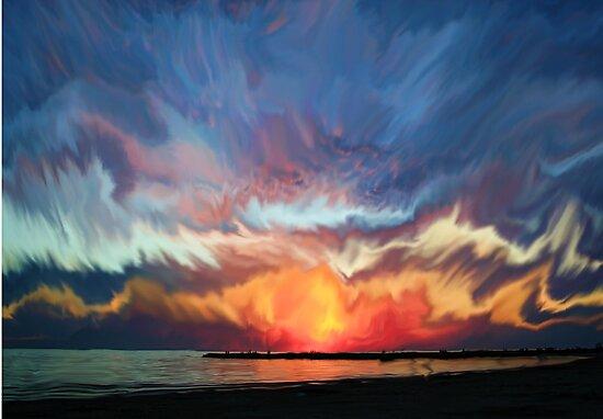Amazing sunset by JBJart