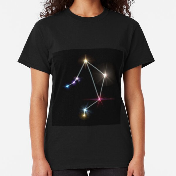 Libra Horoscopes with black background Classic T-Shirt