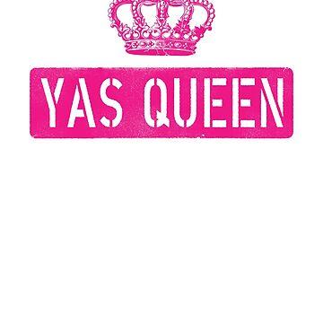 Yas Queen, funny saying LGBTQ Pride shirt or tanktop - Vintage crown by T-Heroes