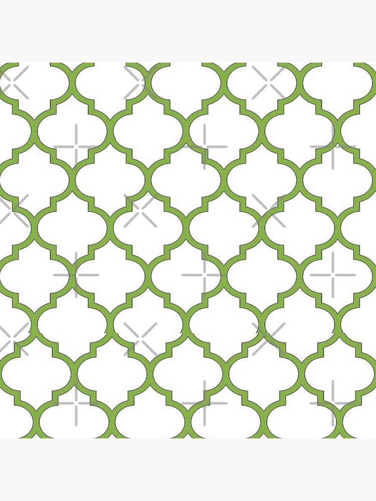 PANTONE COLOUR OF THE YEAR 2017 GREENERY DOMES QUATREFOIL GEOMETRIC PATTERN BY OZCUSHIONSTOO by ozcushionstoo