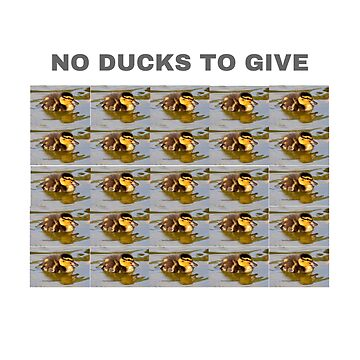 No ducks to give funny t-shirt  by cooltdesigns