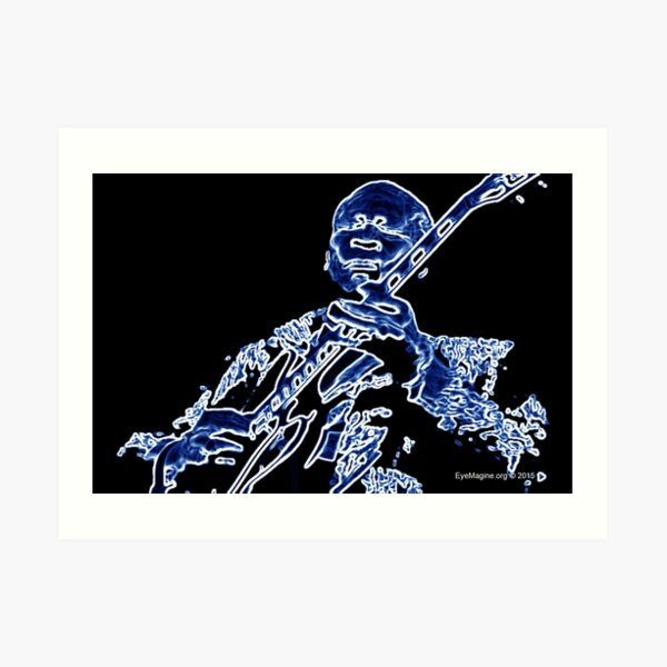 Abstract Blues King Art Print