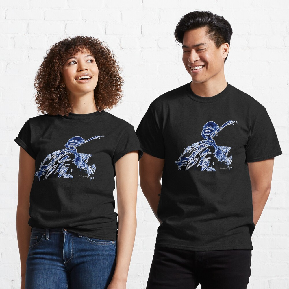 Abstract Blues King Classic T-Shirt