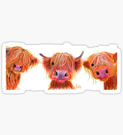 Highland Vaca Arte de la pintura original escocés Bolly byshirley MacArthur