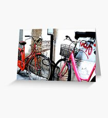 Bikes in Love Greeting Card
