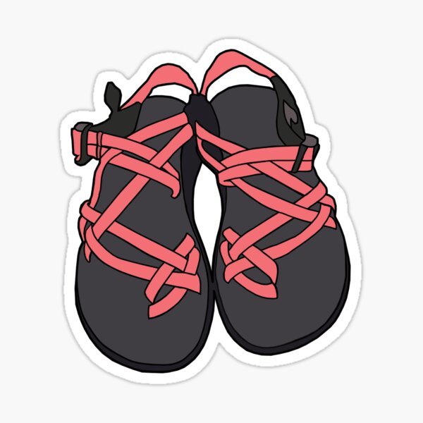 Chacos Sandals Red Sticker