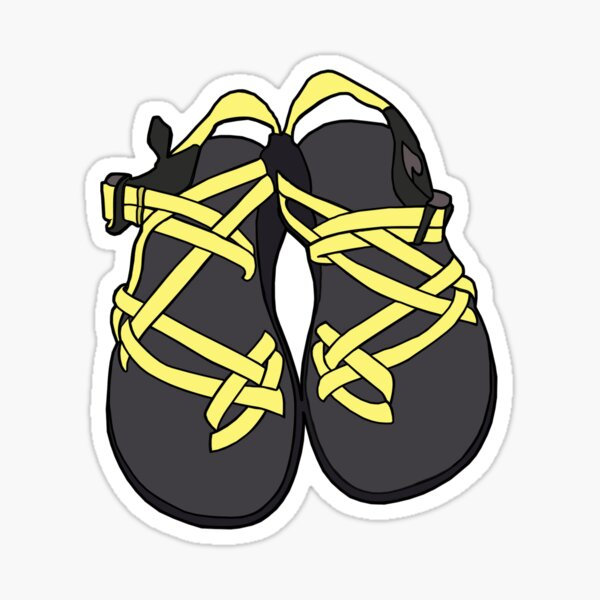 Chacos Sandals Yellow Sticker