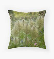 Mountain Wildflower (Pasqueflower) Throw Pillow