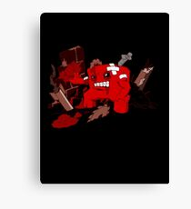 Lets Meat the Foetus (black tee) Canvas Print
