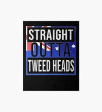 Straight Outta Tweed Heads Retro Style - Gift For An Australian From Tweed Heads in New South Wales , Design Has The Australia Flag Embedded Art Board