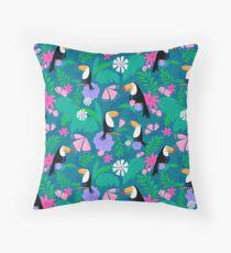 Tropical Toucan Jungle Throw Pillow