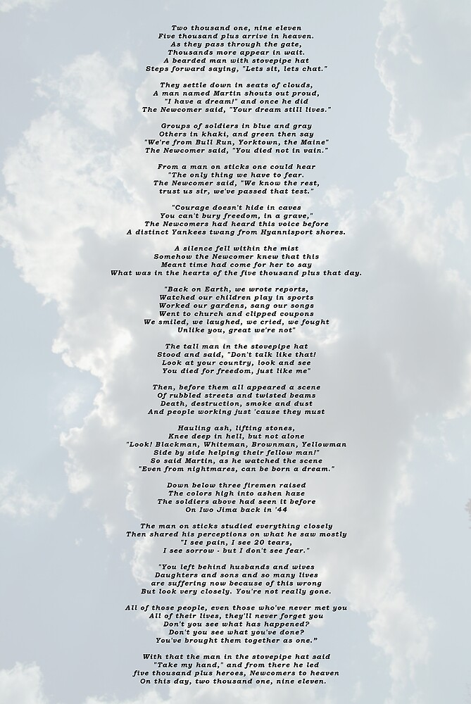 Conversations in Heaven on 9/11 by Shellie Hill