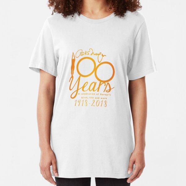 Iyengar Yoga UK Centenary Year - charity design Slim Fit T-Shirt
