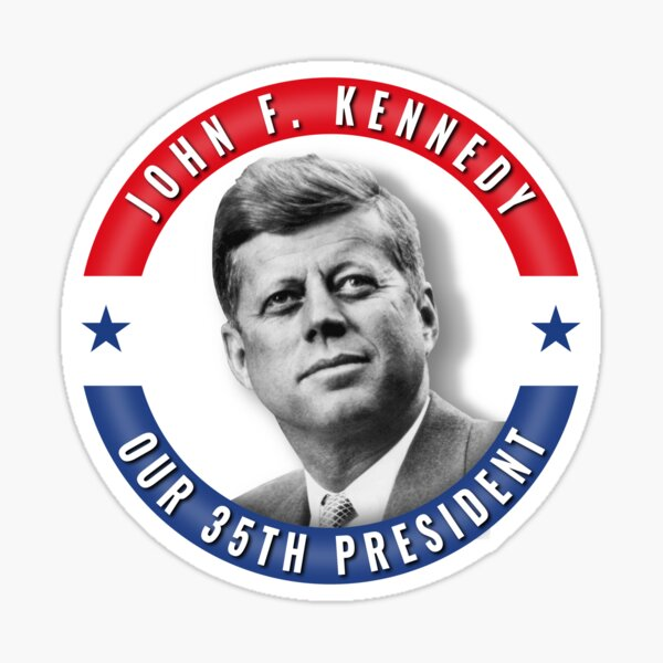 JFK John F. Kennedy President United States Patriotic Memorial  Sticker