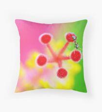 Hibiscus Pistils Throw Pillow