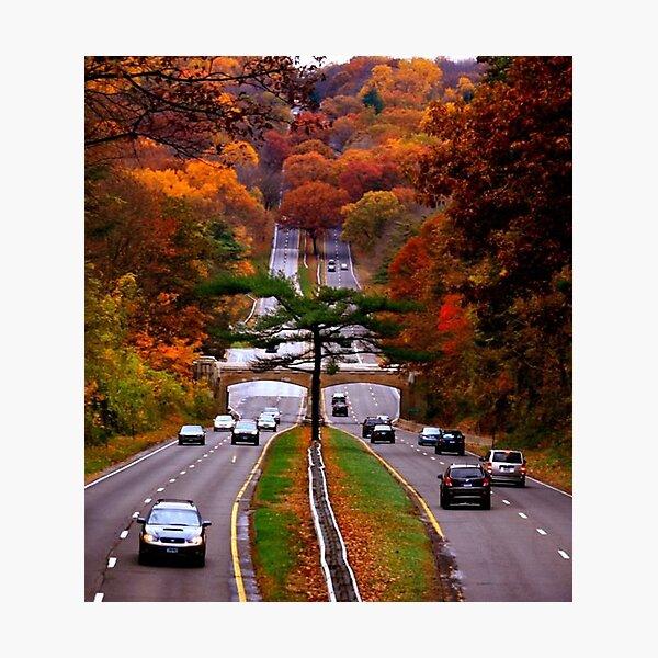 Connecticut - Autumn on the Merritt  Photographic Print