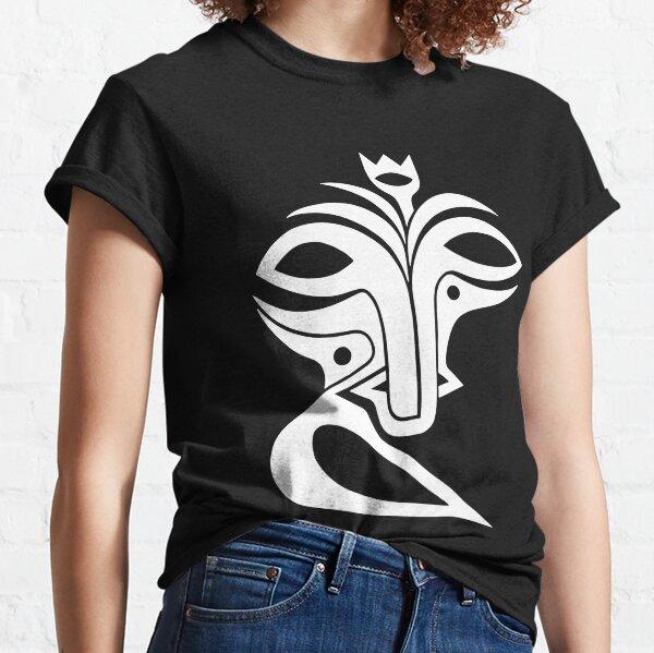 Maske Totem Naturgeist weiss Classic T-Shirt