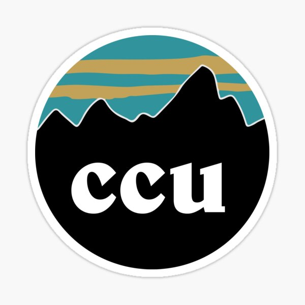 CCU Mountains Sticker
