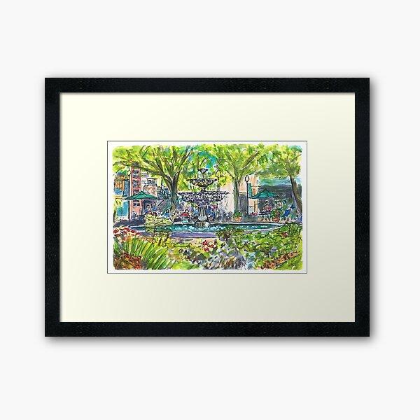 Hyde Park Village Framed Art Print
