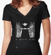 Geisterfrau 3 Shirt mit V-Ausschnitt