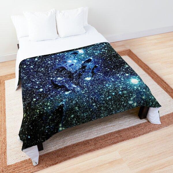 Galaxy The Eagle Nebula / Pillars of Creation Ocean Blue Comforter