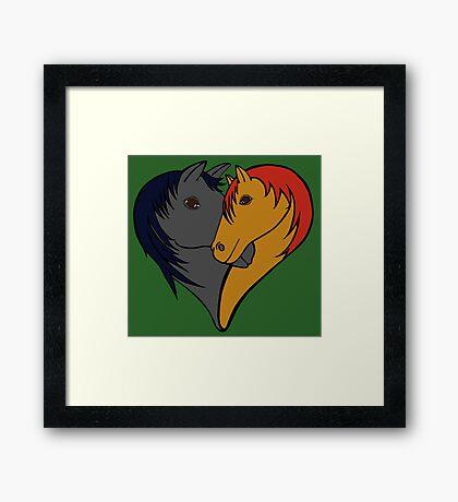 For the love of Horses Framed Print