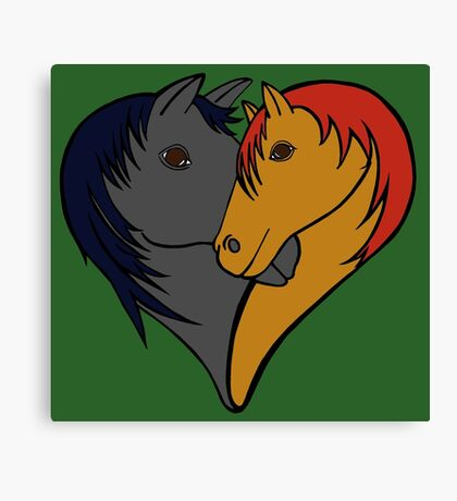 For the love of Horses Canvas Print